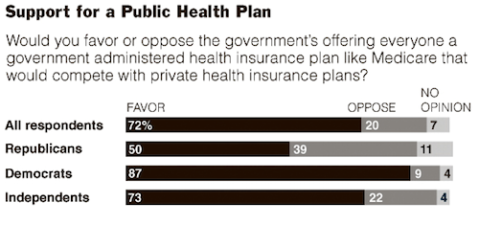 Public Plan opinion poll